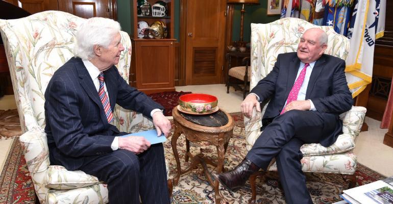 Sen. Thad Cochran sits down with ag secretary nominee Gov. Sonny Perdue