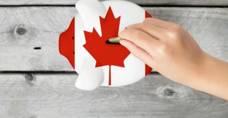 Canada Piggy Bank Flag Economy