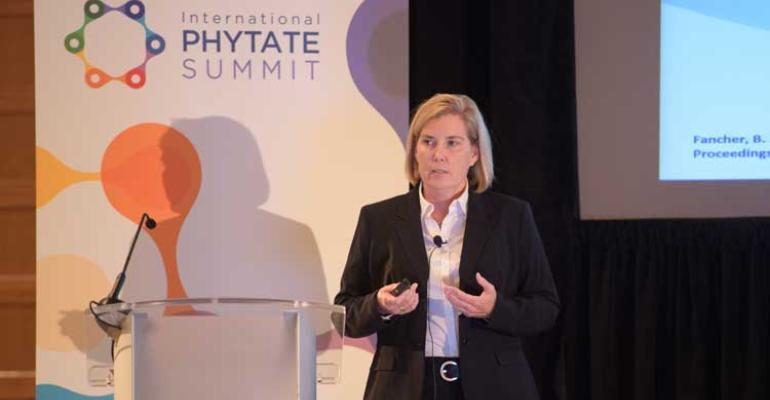 Tara York speaking at International Phytase Summit