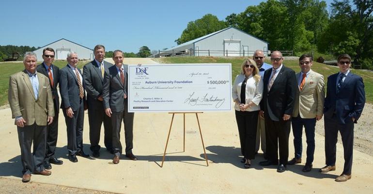 Representatives accept funding check at Miller Center