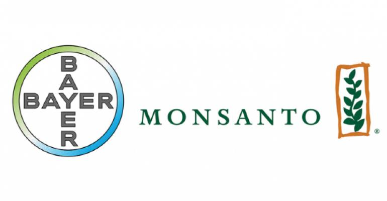 Bayer and Monsanto logos together side by side