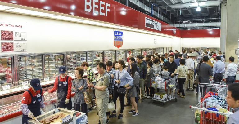 Korean Costco beef sampling