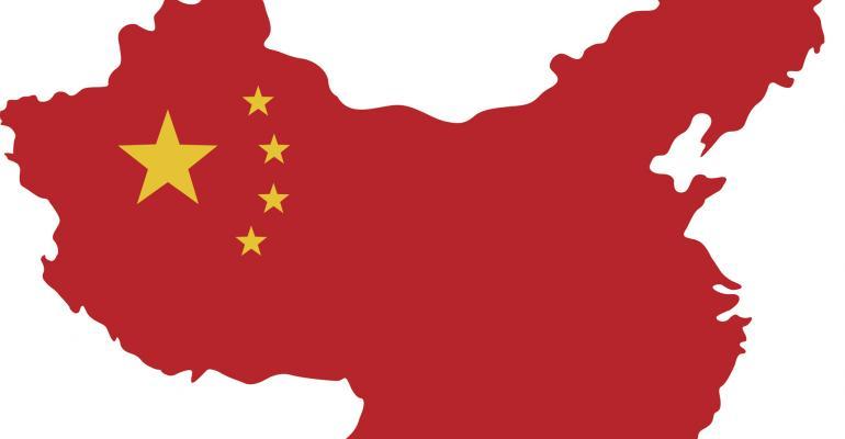 China map as flag