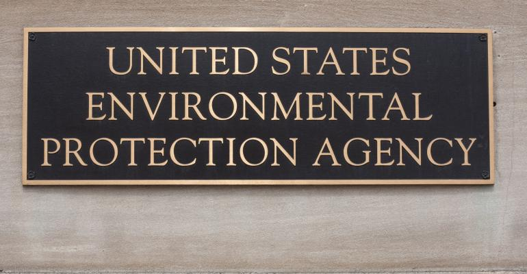 US Environmental Protection Agency building plaque