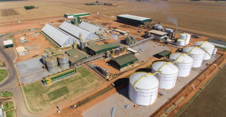 FS Bioenergia corn ethanol plant in Mato Grosso Brazil