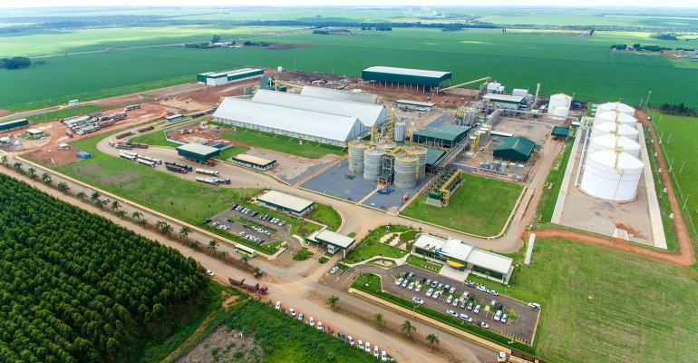 FS Bioenergia corn ethanol production facility in Lucas do Rio Verde in Mato Grosso, Brazil