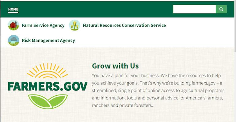 USDA Farmers.gov screenshot