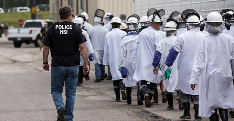 ICE raid on Ohio meat packing plant