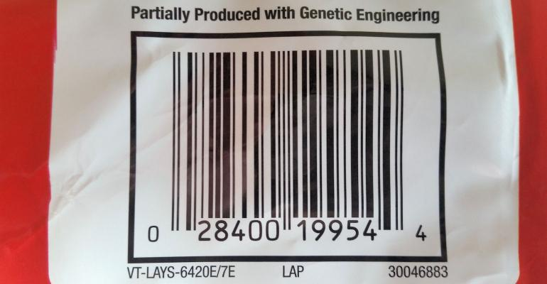 Produced with genetic engineering label on Frito Lay chips