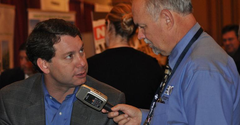 Gregg Doud being interviewed in 2010