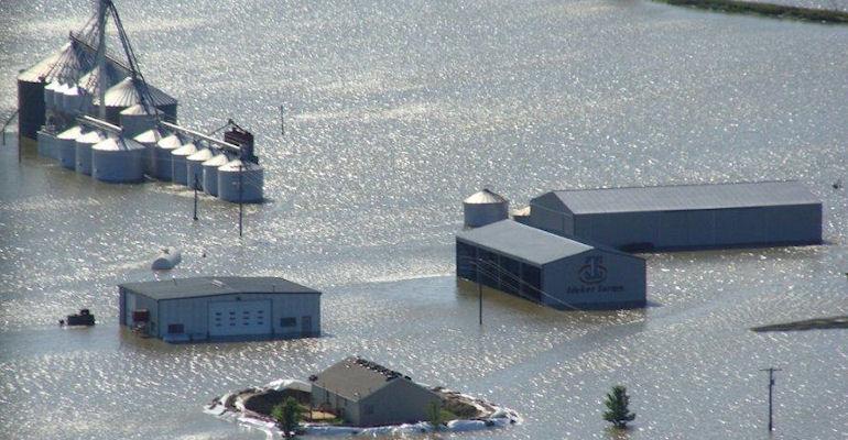 Flooding on the farm of Roger Ideker in 2011