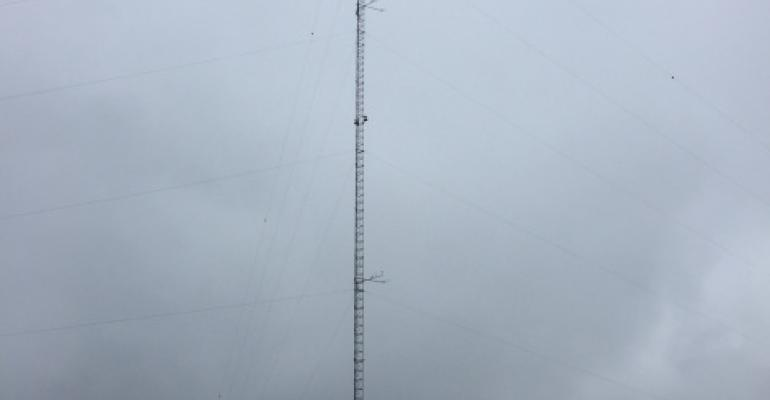 Equipment tower used to measure climate changes
