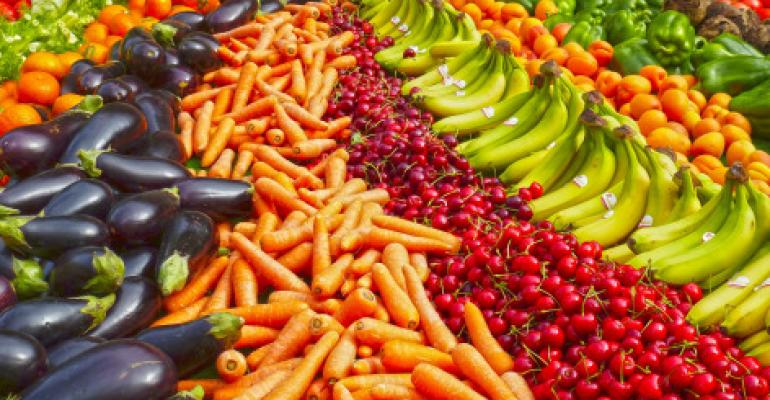 variety of fresh fruits and vegetables