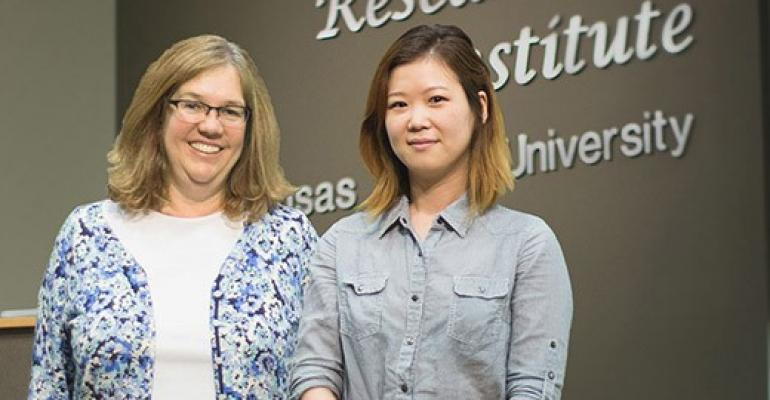 Kansas State University's Dana Vanlandingham and Soo Lee Park are authors of recently published research on the susceptibility of North American domestic pigs to Japanese encephalitis virus