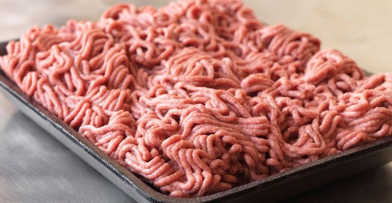 lean, texturized ground beef