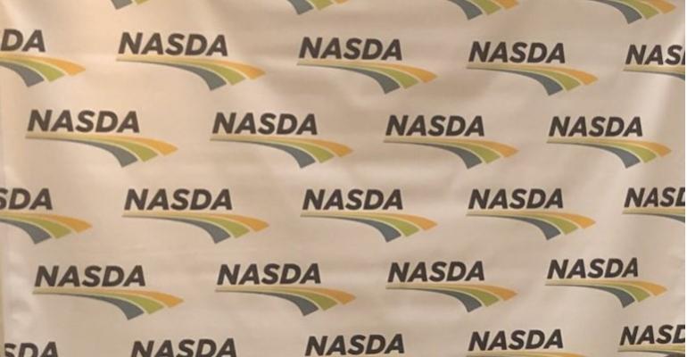 NASDA logo backdrop