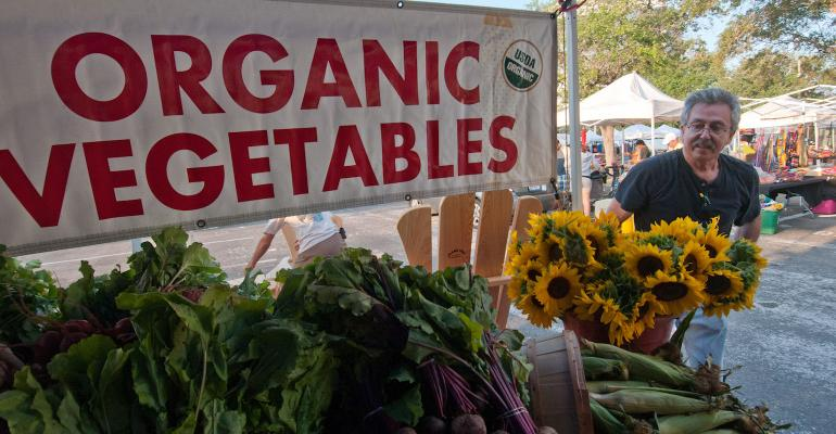 organic vegetable stand USDA certified