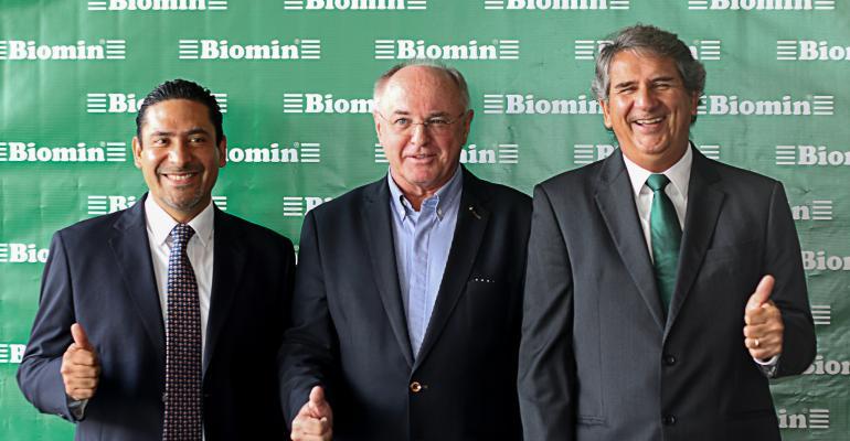 From left to right: Jose Buitron, BIOMIN founder Erich Erber, Ricardo Pereira.