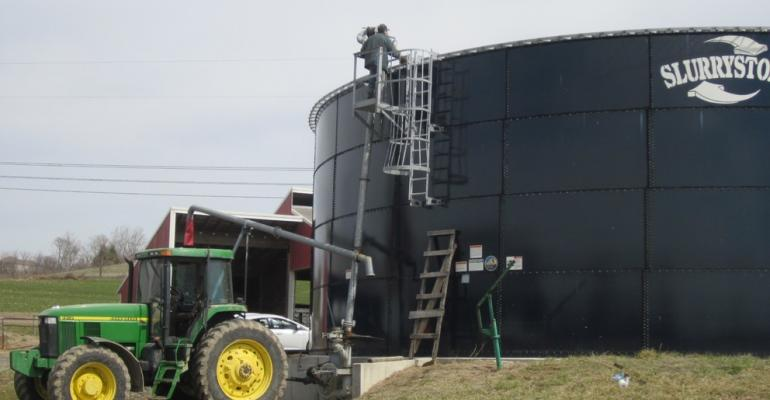 Hazardous gases released from dairy manure storages during agitation can be particularly dangerous for nearby operators when gypsum bedding has been used in the cow stalls.