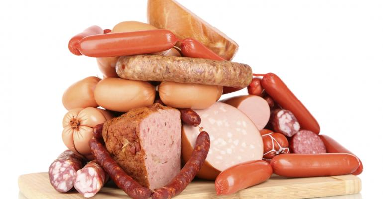 pile of processed meats