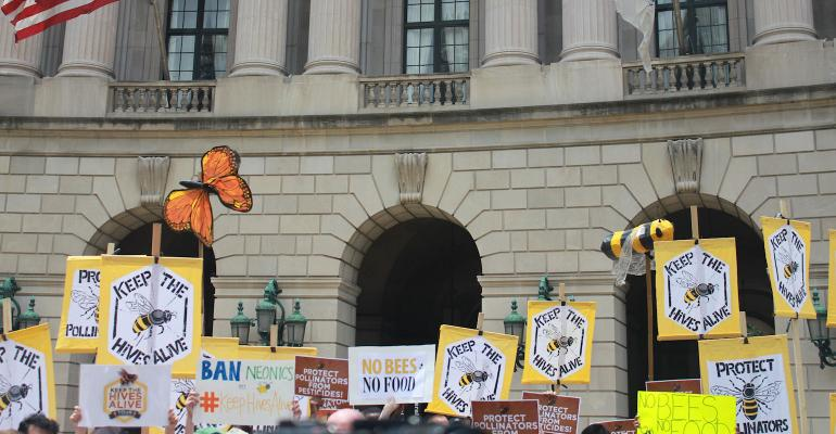 Rally for protecting bee health