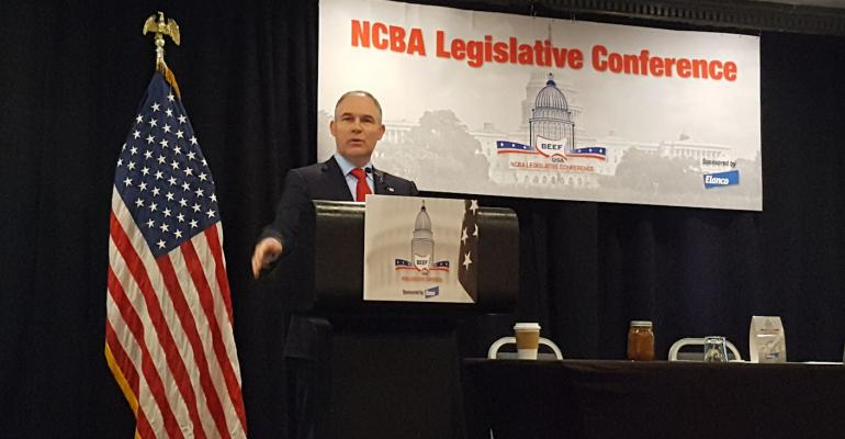 EPA administrator Scott Pruitt talks to NCBA legislative conference
