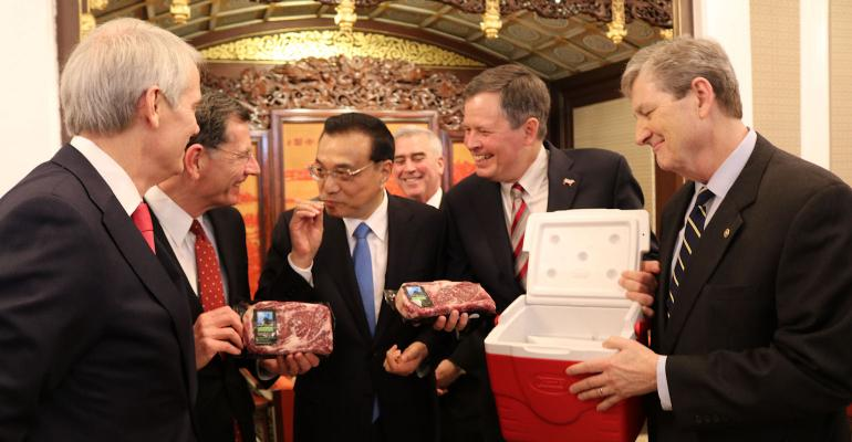 Congressional delegation delivers beef to Chinese Premier