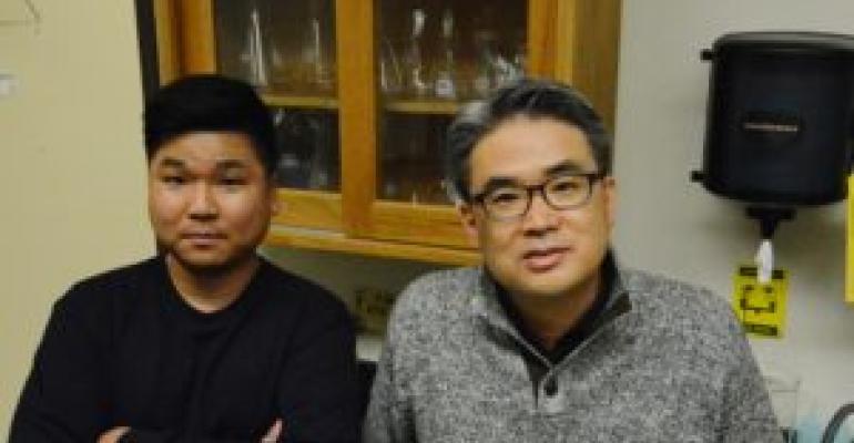 Dr. Hyun Min Jang, AgriLife Research environmental engineer (left), and Dr. Eunsung Kan, AgriLife Research chemical and environmental engineer