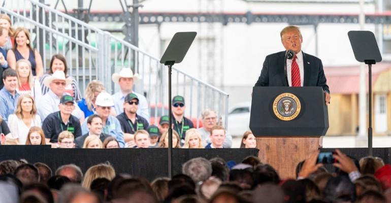 Trump at SIRE ethanol plant June 2019.jpg