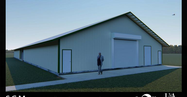 Rendering of the planned Cargill Poultry Research Center, expected to be completed August 2018.