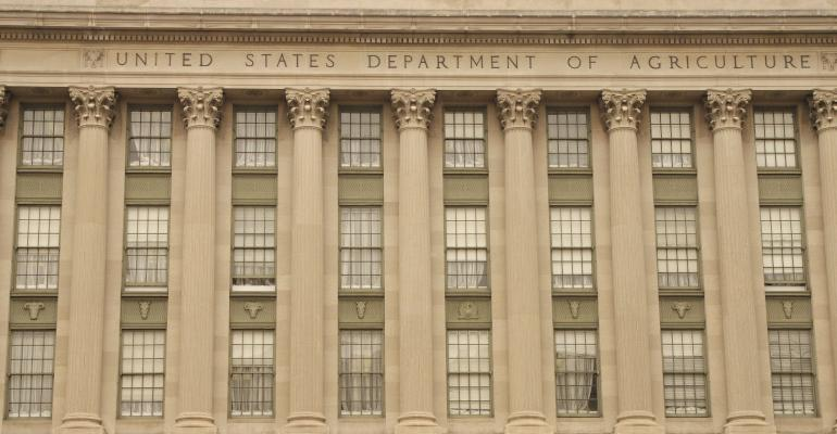 front of USDA building