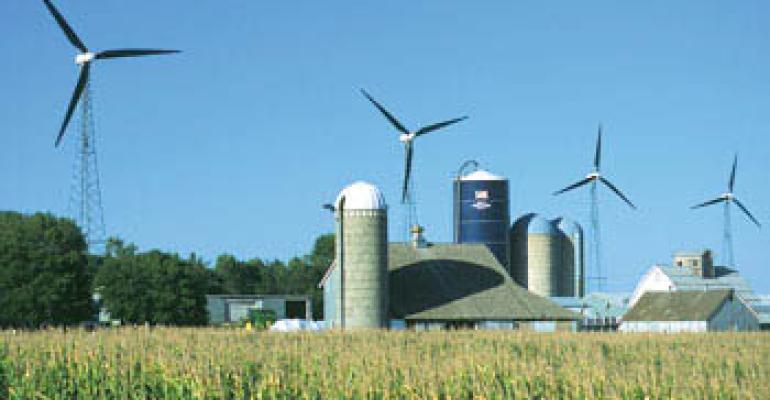 wind turbine rural landscape
