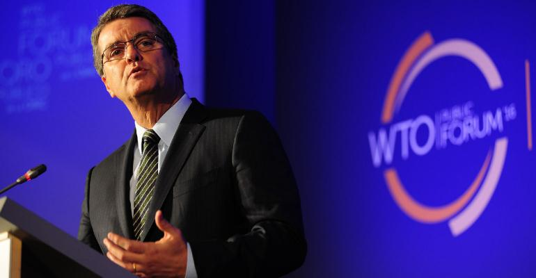 WTO Director-General Roberto Azevêdo speaks at 2016 WTO Forum