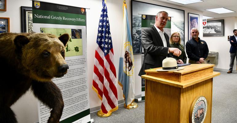 Interior secretary Ryan Zinke announces grizzly bear restoration efforts