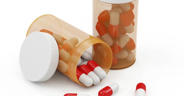 antibiotic pills and bottles