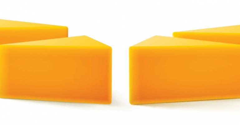 cheddar cheese blocks
