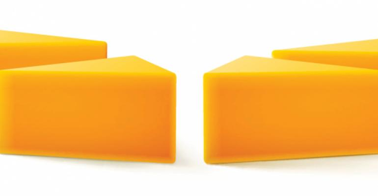 cheddar cheese blocks