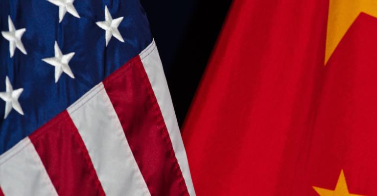 China U.S. flags