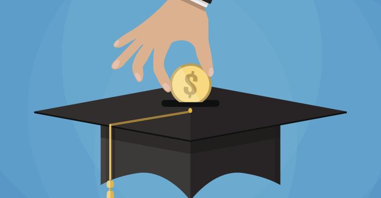 college savings scholarship mortarboard cartoon