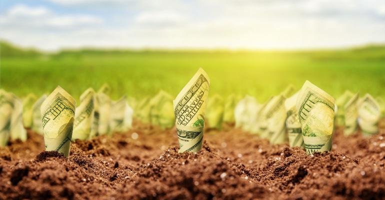 money growing in soil farm lending