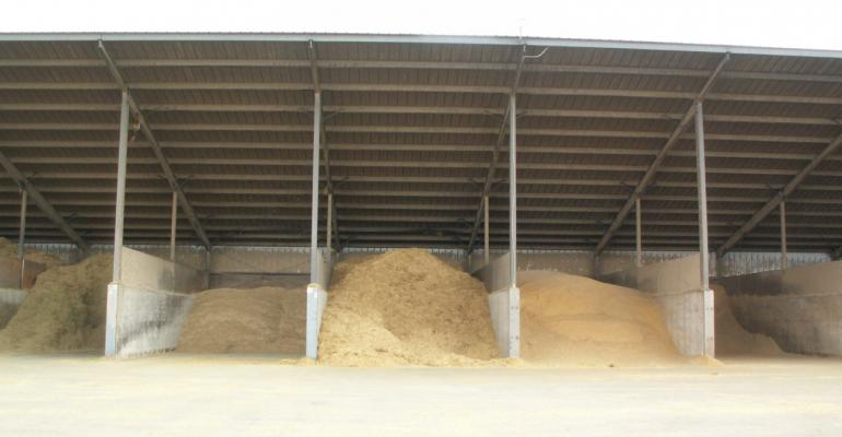 feed ingredient storage piles