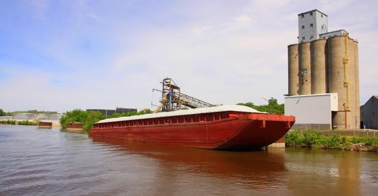 grain barge river elevator