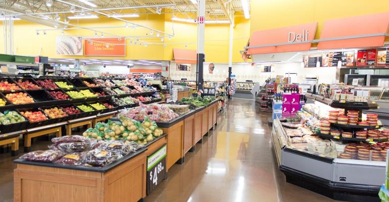 grocery store aisle produce meat shopper consumer