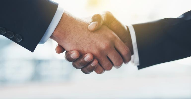 handshake over business deal