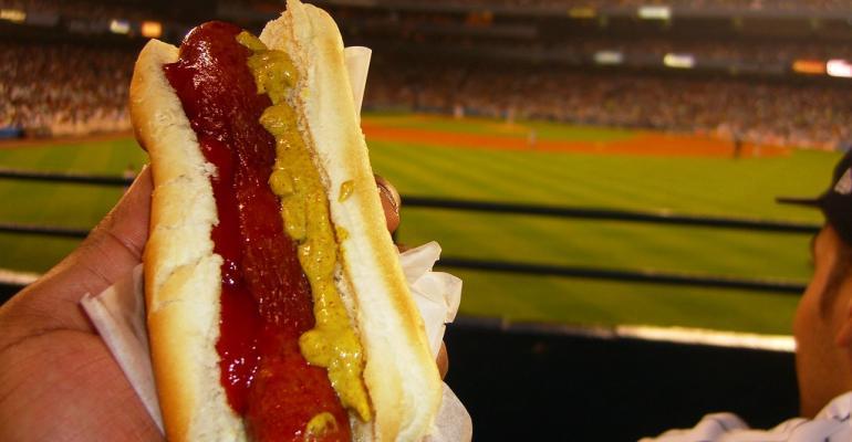 hot dog ballpark