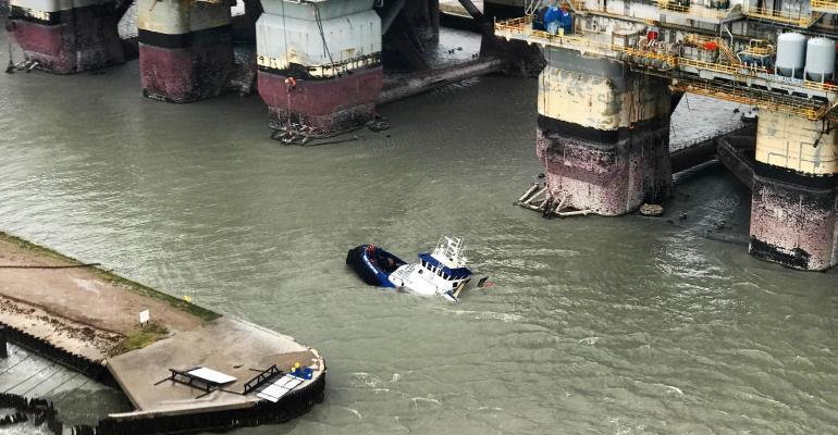 Hurricane Harvey waterway vessel