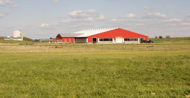red barn dairy farm field farmer
