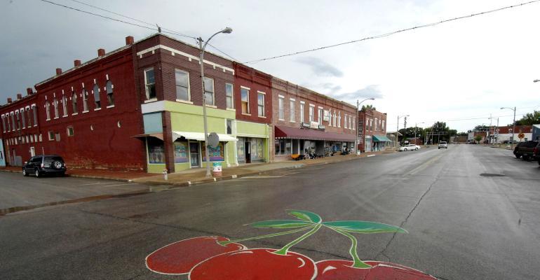 Photo of rural main street