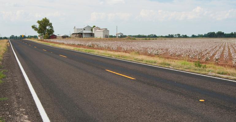 near a roadway on a farm in Navasota, Texas