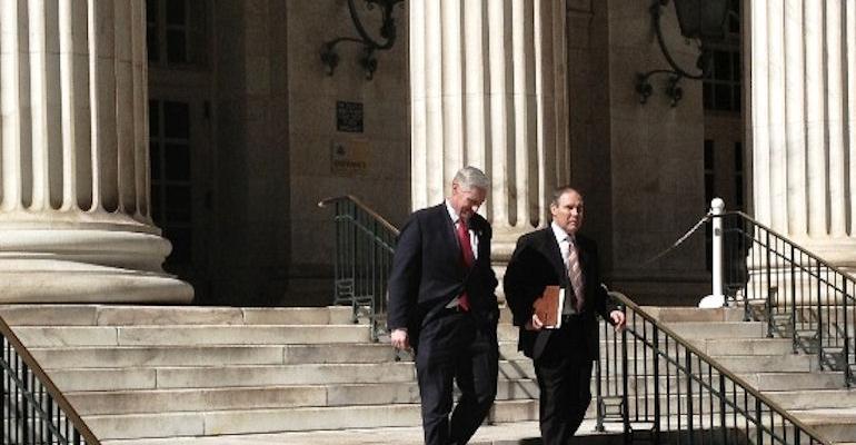 Pruitt EPA nominee walking on court steps